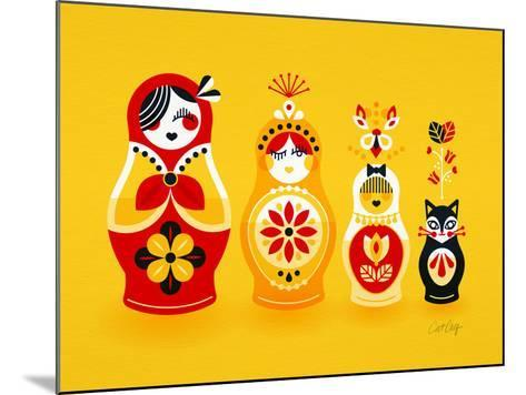 Yellow Russian Dolls-Cat Coquillette-Mounted Giclee Print