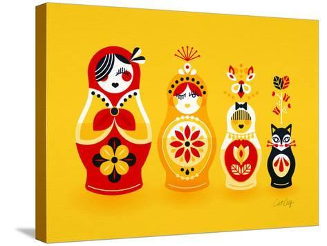 Yellow Russian Dolls-Cat Coquillette-Stretched Canvas Print