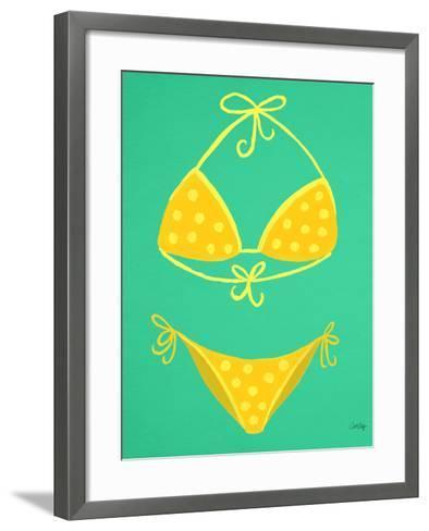 Yellow Bikini Mint-Cat Coquillette-Framed Art Print