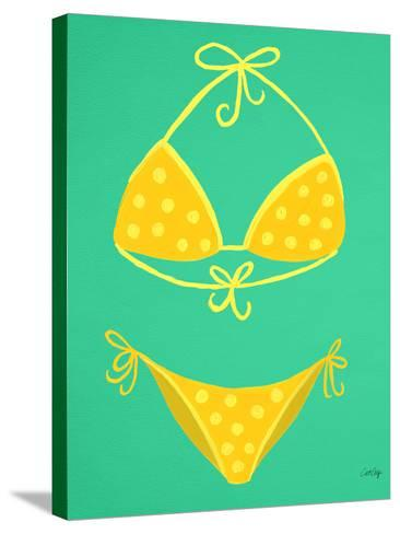 Yellow Bikini Mint-Cat Coquillette-Stretched Canvas Print