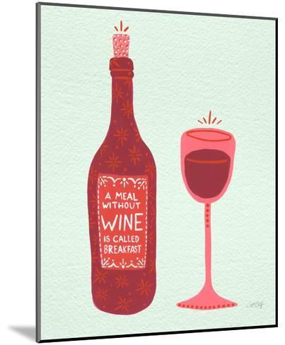 Wine-Cat Coquillette-Mounted Giclee Print