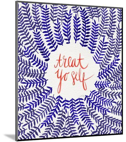 Treat Yo Self Coral Navy-Cat Coquillette-Mounted Giclee Print
