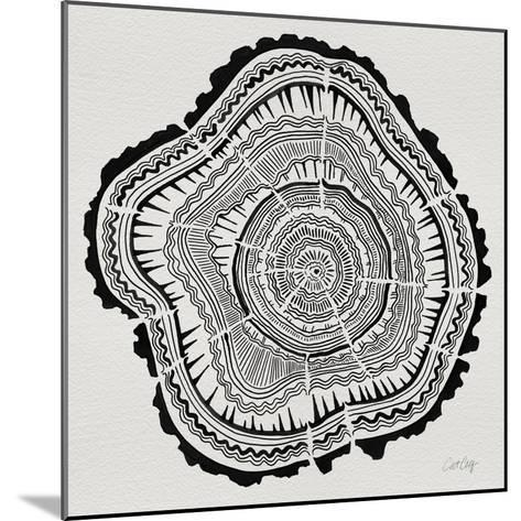 Tree Rings Black on White-Cat Coquillette-Mounted Giclee Print