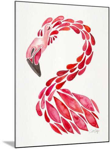 Red Flamingo-Cat Coquillette-Mounted Giclee Print