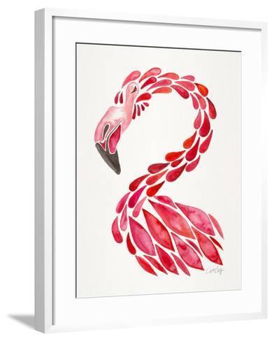 Red Flamingo-Cat Coquillette-Framed Art Print