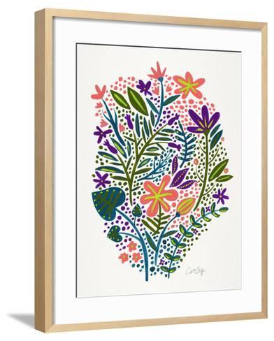 Teal Blush Garden-Cat Coquillette-Framed Art Print