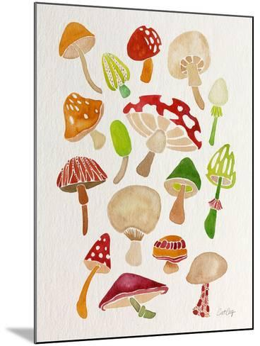 Mushrooms-Cat Coquillette-Mounted Giclee Print