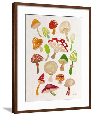 Mushrooms-Cat Coquillette-Framed Art Print
