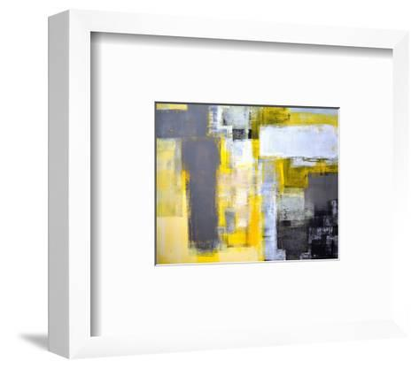 Grey And Yellow Abstract Art Painting Framed Art Print by T30Gallery ...