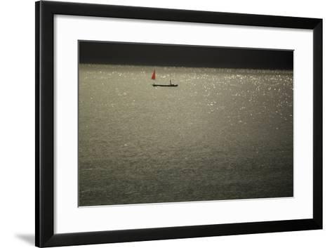 Red Sails at Midsummer-Valda Bailey-Framed Art Print