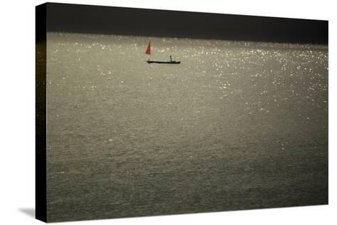 Red Sails at Midsummer-Valda Bailey-Stretched Canvas Print