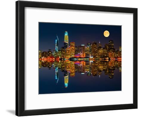 San Francisco by Night-Marco Carmassi-Framed Art Print