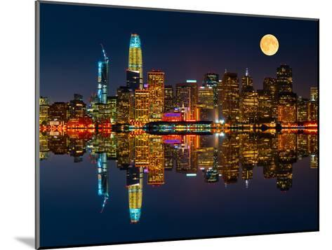 San Francisco by Night-Marco Carmassi-Mounted Premium Photographic Print