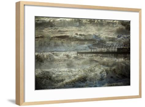 The Dark and Rolling Sea-Valda Bailey-Framed Art Print