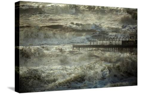The Dark and Rolling Sea-Valda Bailey-Stretched Canvas Print