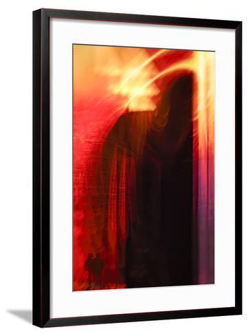 Hudson River Sunset-Valda Bailey-Framed Art Print
