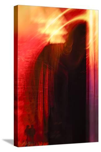 Hudson River Sunset-Valda Bailey-Stretched Canvas Print