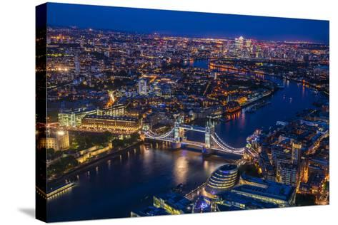 London from Shard-Marco Carmassi-Stretched Canvas Print