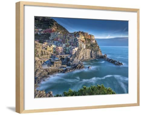 Manarola Sunset-Marco Carmassi-Framed Art Print