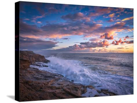 Stormy Sea-Marco Carmassi-Stretched Canvas Print