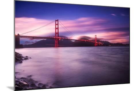 Golden Gate Bridge at Sunset-Philippe Sainte-Laudy-Mounted Photographic Print