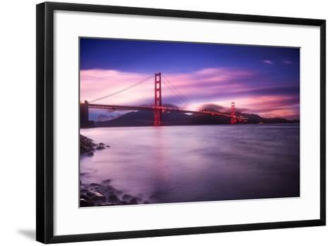 Golden Gate Bridge at Sunset-Philippe Sainte-Laudy-Framed Art Print