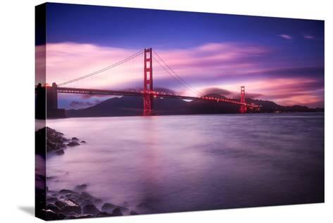 Golden Gate Bridge at Sunset-Philippe Sainte-Laudy-Stretched Canvas Print