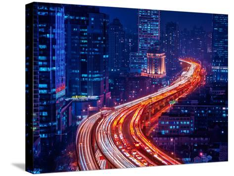 Snake Street-Marco Carmassi-Stretched Canvas Print