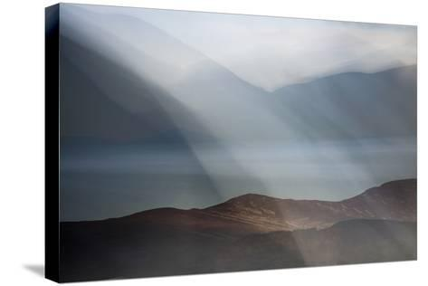 Rolling Mists on Loch Morlich-Valda Bailey-Stretched Canvas Print