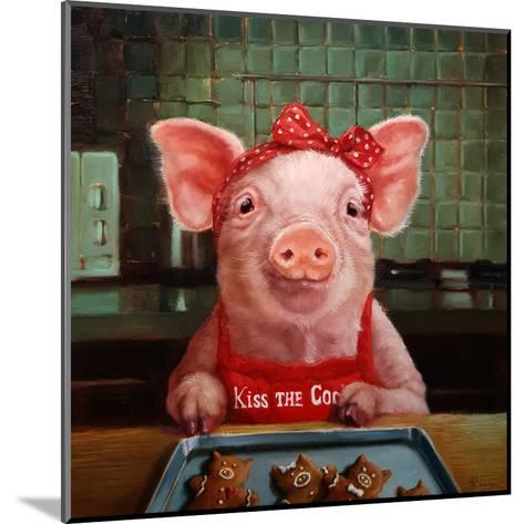 Gingerbread Pigs-Lucia Heffernan-Mounted Art Print