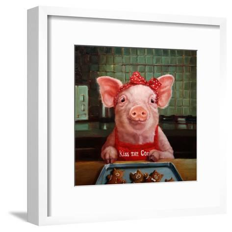 Gingerbread Pigs-Lucia Heffernan-Framed Art Print