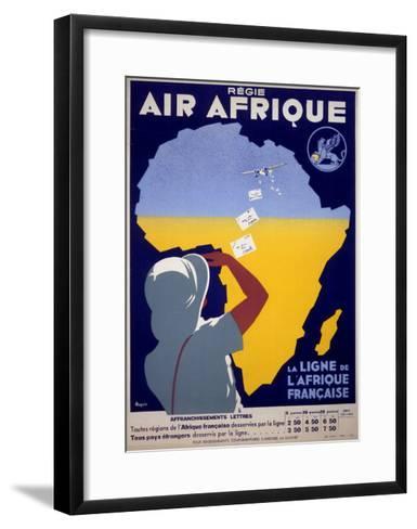 Air Afrique--Framed Art Print