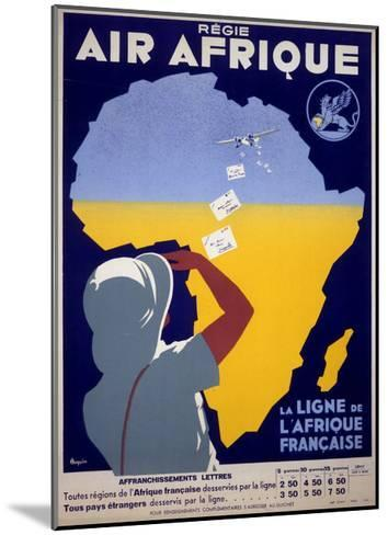 Air Afrique--Mounted Giclee Print