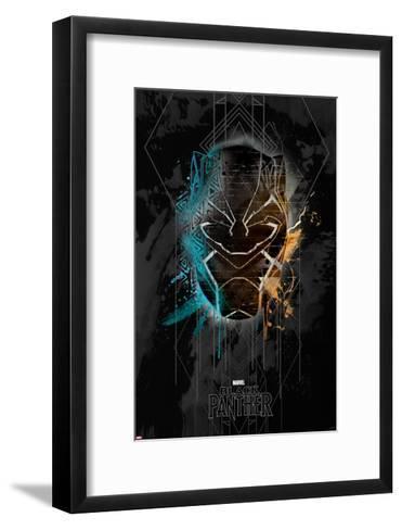 Deco Black Panther--Framed Art Print
