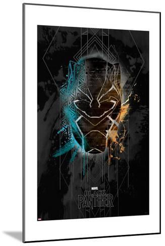 Deco Black Panther--Mounted Art Print