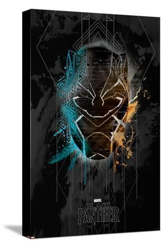 Deco Black Panther--Stretched Canvas Print