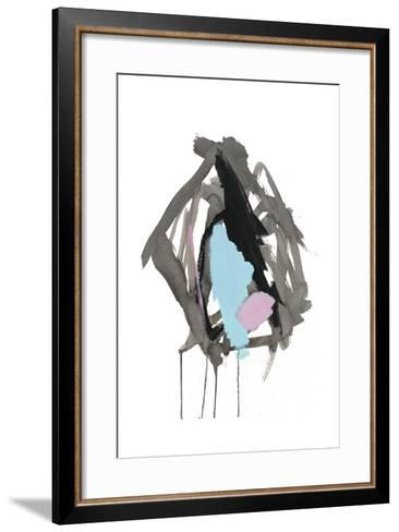 Gestural Brush, Pastel-Lora Gold-Framed Art Print
