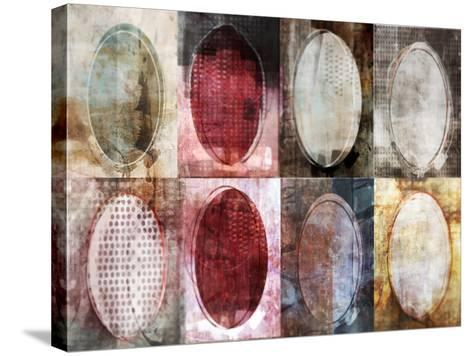 Oval Gridlock-Ken Roko-Stretched Canvas Print