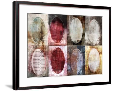 Oval Gridlock-Ken Roko-Framed Art Print