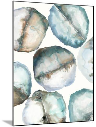 River Stones-Lora Gold-Mounted Art Print