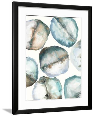 River Stones-Lora Gold-Framed Art Print