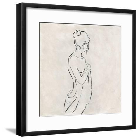 Alabaster Bather 1-Karen Wallis-Framed Art Print