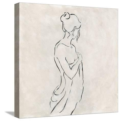 Alabaster Bather 1-Karen Wallis-Stretched Canvas Print