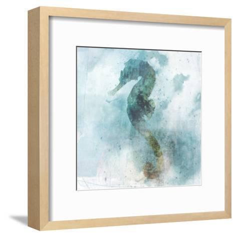 Coastal Mist Seahorse-Ken Roko-Framed Art Print