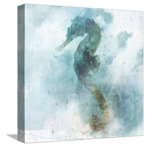 Coastal Mist Seahorse-Ken Roko-Stretched Canvas Print