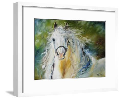 White Cloud the Andlusian Stallion-Marcia Baldwin-Framed Art Print