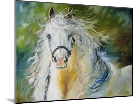 White Cloud the Andlusian Stallion-Marcia Baldwin-Mounted Art Print