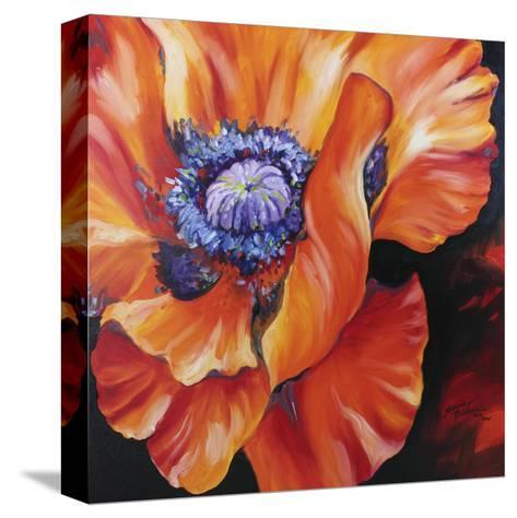 Heart of a Red Poppy-Marcia Baldwin-Stretched Canvas Print