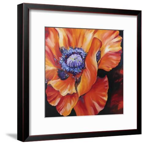 Heart of a Red Poppy-Marcia Baldwin-Framed Art Print