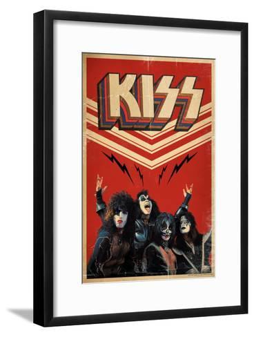 KISS - Retro Bolts--Framed Art Print